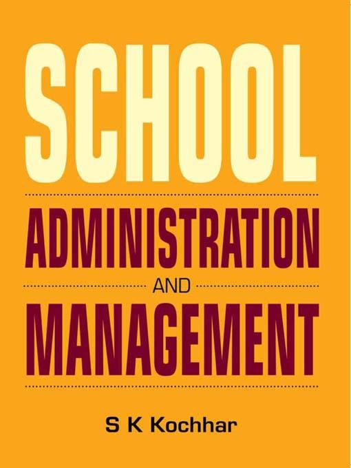 School Administration and Management EB9788120790308