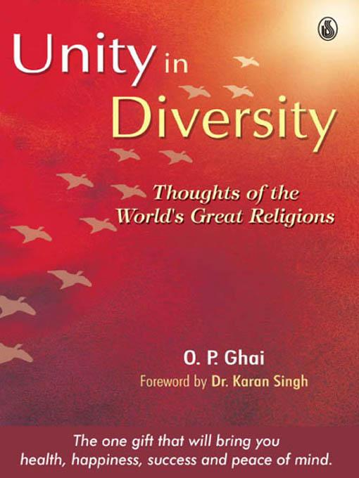 The Sterling Book of UNITY IN DIVERSITY EB9788120790667