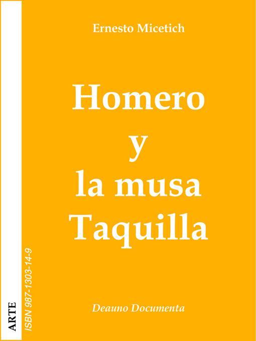 Homero y la musa Taquilla EB9789871303144
