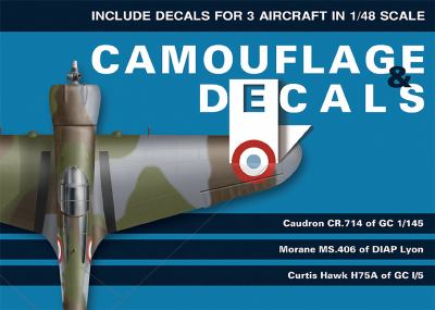 Camouflage & Decals: Caudron CR.714 of GC 1/145, Morane MS.406 of DIAP Lyon, Curtis Hawk H75A of GC 1/5: Include Decals for 3 Aircraft in 1 9788361421313