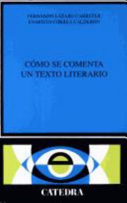 Como Se Comenta Un Texto 9788437600246
