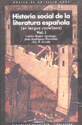 Historia Social de La Literatura Espanola 9788446012528