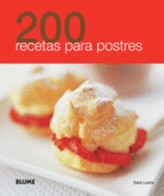 200 Recetas Para Postres 9788480769075