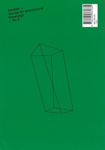 Candide No. 4: Journal for Architectural Knowledge 9788492861835