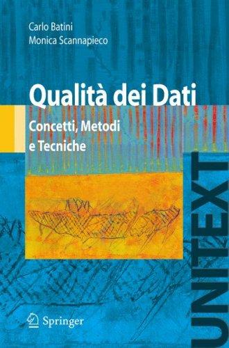 Qualita Dei Dati: Concetti, Metodi E Tecniche 9788847007338