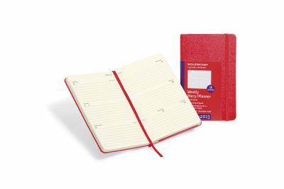 2013 Moleskine Red Pocket Diary Weekly Horizontal Hard