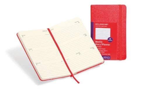 Moleskine Red Large Diary Weekly Horizontal Hard 18 Month 9788866131328