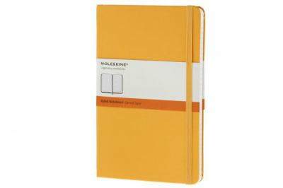 Moleskine Notebook Ruled Yellow Orange Hard Cover Large (Moleskine Classic) 9788866136361