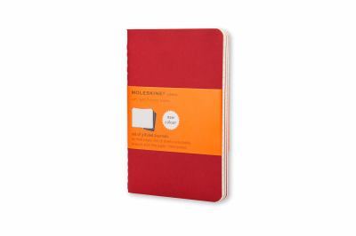 Moleskine Cahiers Red Ruled Journals