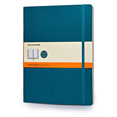 Moleskine Classic Colored Notebook, Extra Large, Ruled, Underwater Blue, Soft Cover (7.5 x 10)