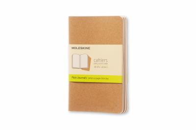 Moleskine Cahiers: Set of 3 Plain Journals