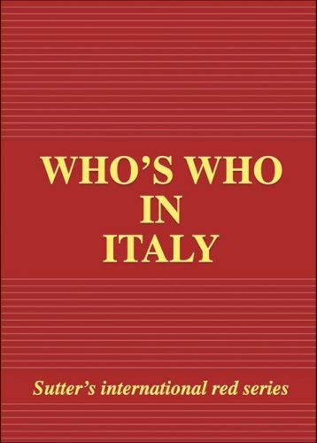 Who's Who in Italy 9788885246621