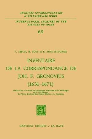 Inventaire de La Correspondance de Johannes Fredericus Gronovius (1631-1671) 9789024716005