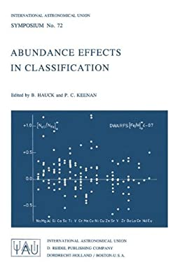 Abundance Effects in Classification: Dedicated to W.W. Morgan - Hauck, B. / Keenan, P. C.