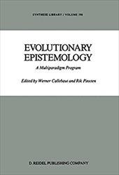 Evolutionary Epistemology: A Multiparadigm Program - Callebaut, Werner / Pinxten, Rik / Callebaut, W.