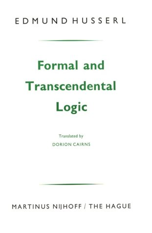 Formal and Transcendental Logic 9789024720521