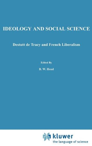 Ideology and Social Science: Destutt de Tracy and French Liberalism 9789024732289