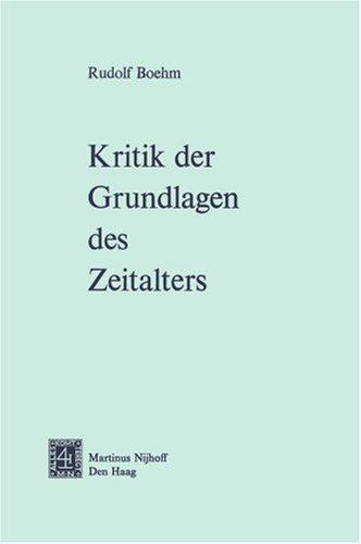 Kritik Der Grundlagen Des Zeitalters 9789024716630