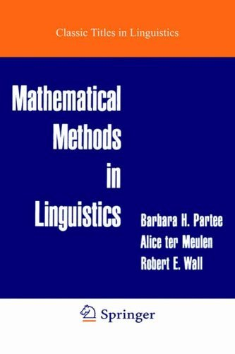 Mathematical Methods in Linguistics 9789027722454