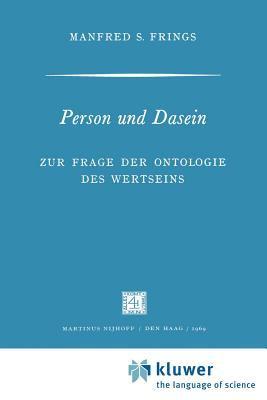 Person Und Dasein 9789024702701
