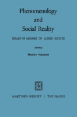 Phenomenology and Social Reality 9789024750108
