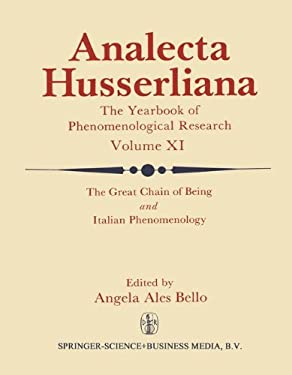 The Great Chain of Being and Italian Phenomenology 9789027710710