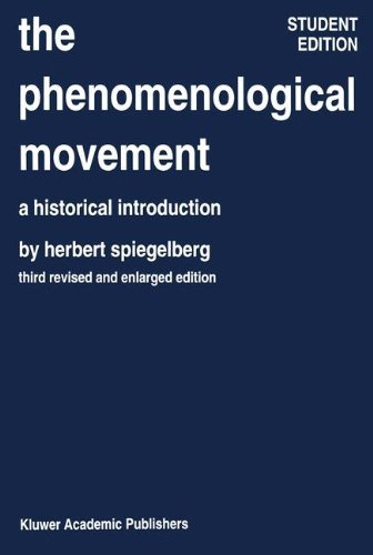 The Phenomenological Movement: A Historical Introduction 9789024725359