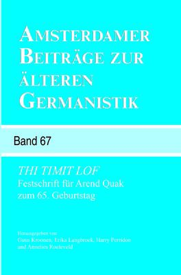 Thi Timit Lof: Festschrift Fur Arend Quak Zum 65. Geburtstag. 9789042033801