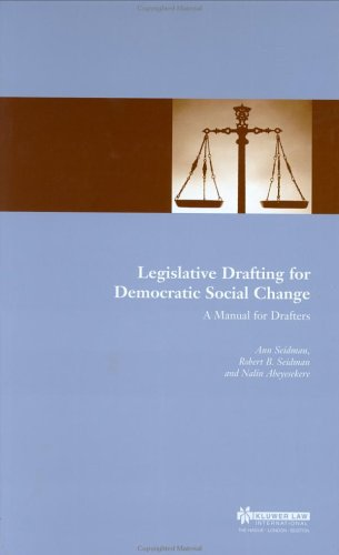 Legislative Drafting for Democratic Social Change: A Manual for Drafters 9789041197931
