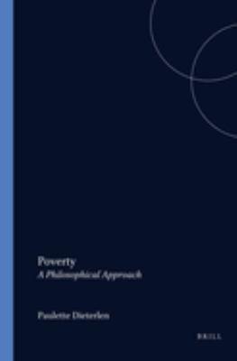 Poverty - A Philosophical Approach - Dieterlen, Paulette