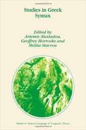 Studies in Greek Syntax - Alexiadou, A. / Horrocks, G. C. / Stavrou, Melita