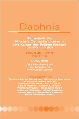 Translationes: Dekontextualisierung Und Rekontextualisierung in Vormoderner Literatur 9789042035294