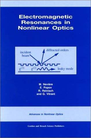 Electromagnetic Resonances in Nonlinear Optics - Neviere, M. / Popov, E. / Reinisch, R.