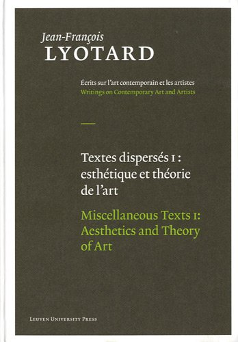"""Miscellaneous Texts: """"Aesthetics and Theory of Art"""" and """"Contemporary Artists"""""""