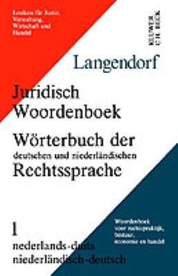 Wrterbuch Der Deutschen Und Niederlndischen Rechtssprache 9789065445636
