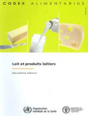Lait Et Produits Laitiers 9789252067863