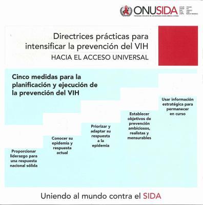 Directrices Practicas Para Intensificar La Prevencion del VIH: Hacia El Accesso Universal 9789291737536