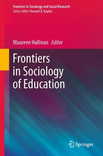 Frontiers in Sociology of Education 9789400715752