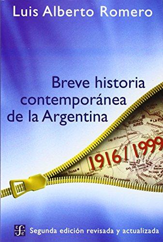 Breve Historia Contemporanea de la Argentina 9789505573936