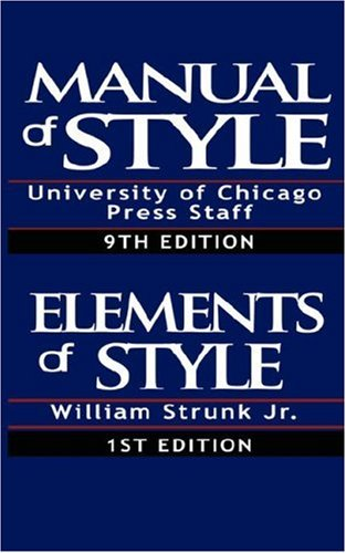 The Chicago Manual of Style/The Elements of Style 9789562913973