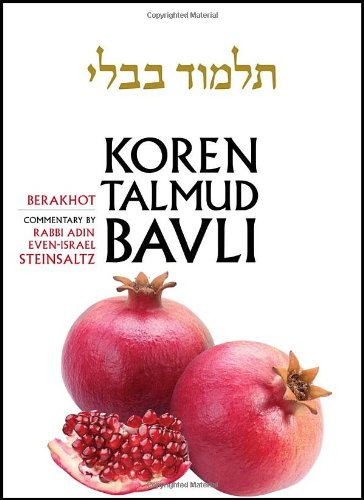 Koren Talmud Bavli, English, Vol.1: Berakhot: Standard (Color): With Commentary by Rabbi Adin Steinsaltz 9789653015630