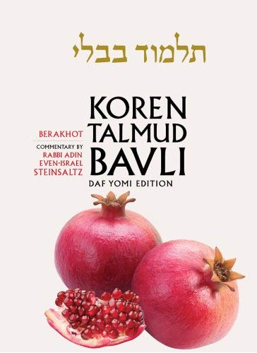 Koren Talmud Bavli, English, Vol.1: Berakhot: Daf Yomi (B&w): With Commentary by Rabbi Adin Steinsaltz 9789653016088