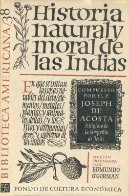 Historia Natural y Moral de Las Indias 9789681600846
