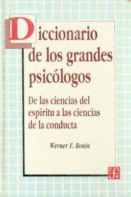 Diccionario de Los Grandes Psicologos 9789681633462