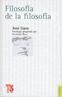 Filosofia de la Filosofia 9789681686291