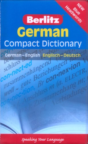 Berlitz German Compact Dictionary 9789812468789