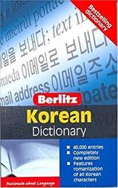 Berlitz Pocket Dictionary Korean-English