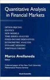 Quantitative Analysis in Financial Marke