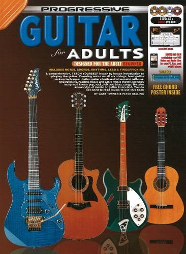Progressive Guitar for Adults Bk/CD/DVD 9789829118042