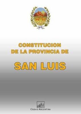 Constitucion de La Provincia de San Luis 9789875071193